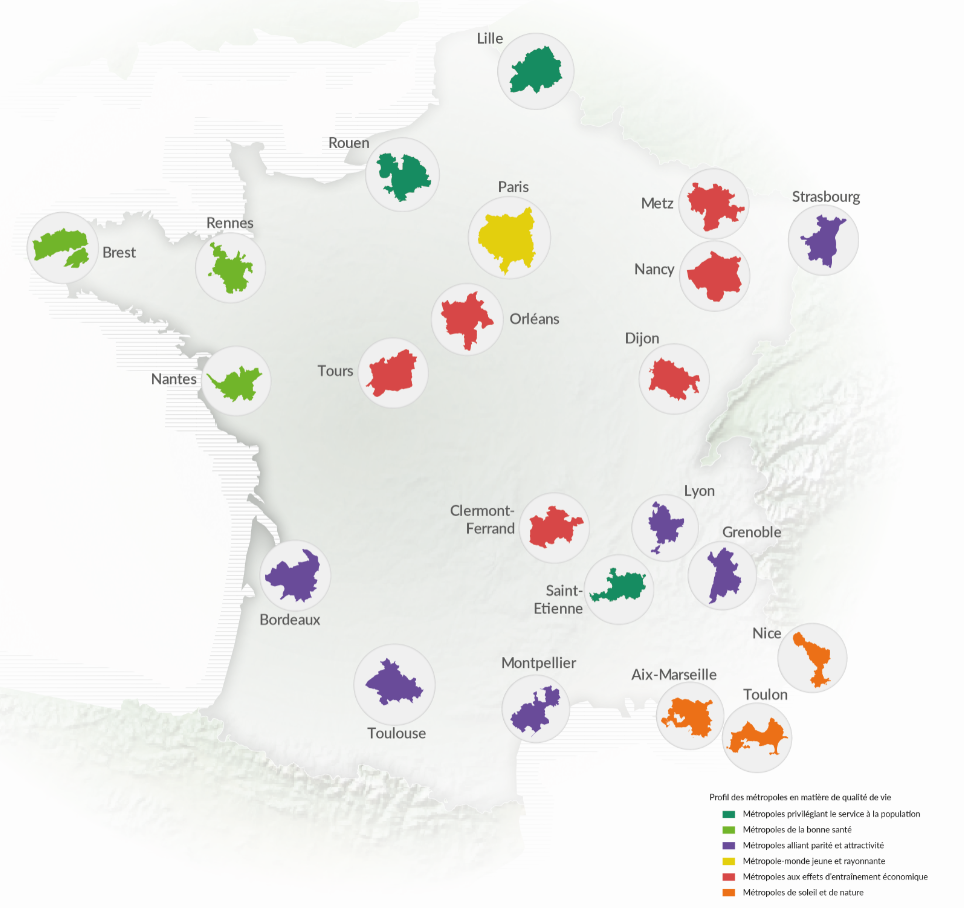 Décrypter les dynamiques des métropoles françaises
